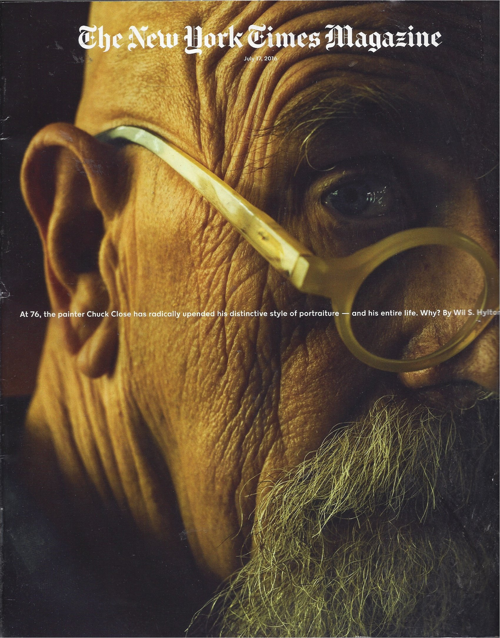 Download Chuck Close : Rare New York Times Magazine Magazine Insert : July 17, 2016 pdf epub