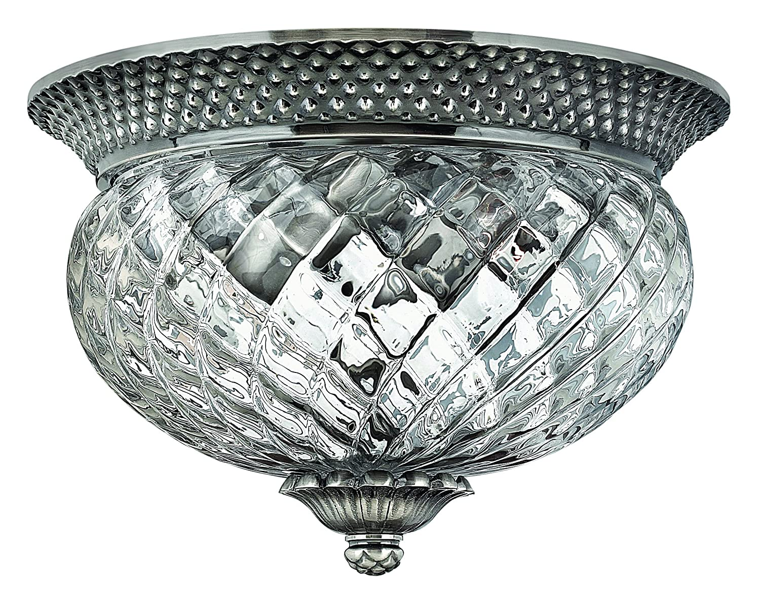 Hinkley 4102PL Traditional Two Light Flush Mount from Plantation collection in Pwt Nckl B/S Slvr.finish - Flush Mount Ceiling Light Fixtures - Amazon. ...  sc 1 st  Amazon.com & Hinkley 4102PL Traditional Two Light Flush Mount from Plantation ... azcodes.com
