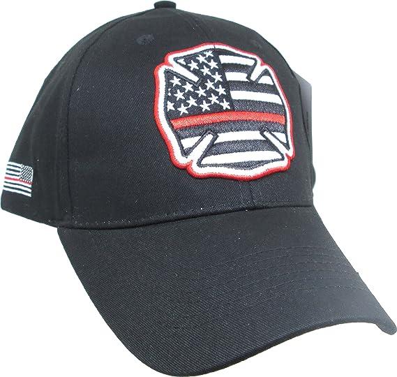 Amazon.com  Eagle Crest Fire Department Thin Red Line Baseball Cap ... 8e812bec8c02