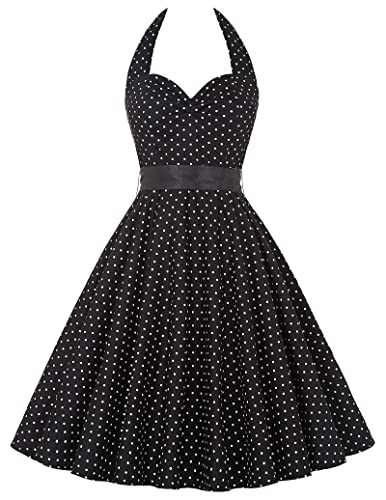 GRACE KARIN® Halter Polka Dots 1950's Vintage Dress for Women