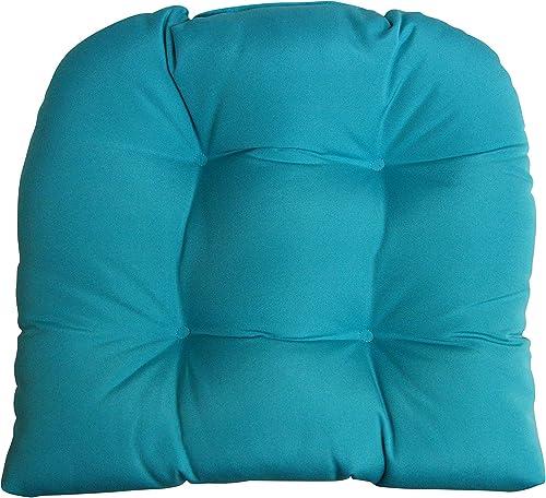 RSH DECOR Sunbrella Canvas Aruba Lg Wicker Chair Cushion – Indoor Outdoor 1 Tufted Wicker Chair Seat Cushion