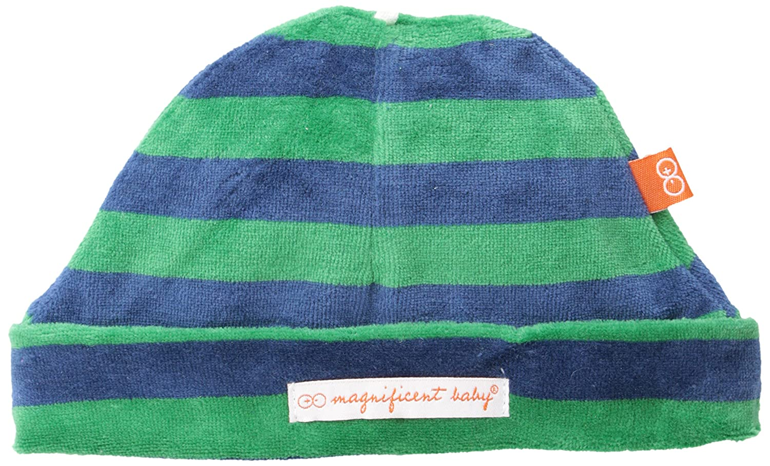 Magnificent Baby Baby-Girls Infant Velour Hat, Green/Navy, 3 Months 8034-B