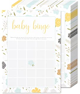 Amazon Com 50 Baby Shower Game Sheets And 2 Answer Key Word