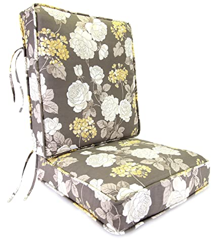 Jordan Manufacturing Deep Seating Boxed Style Chair Cushion For Seat And  Back, Vivienne Putty