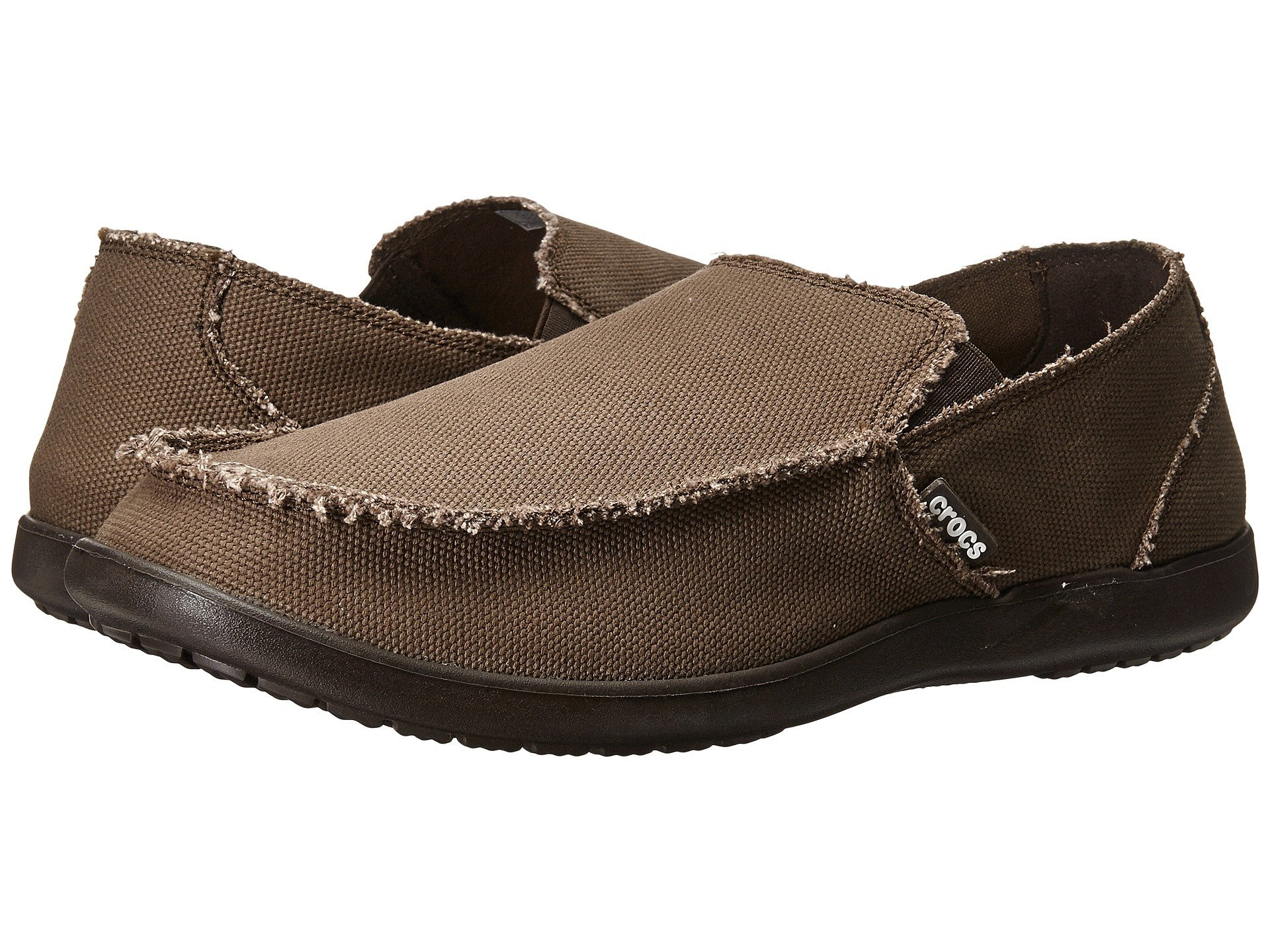 Crocs Men's Santa Cruz Slip-On Loafer,Espresso,8 (D) M US by Crocs