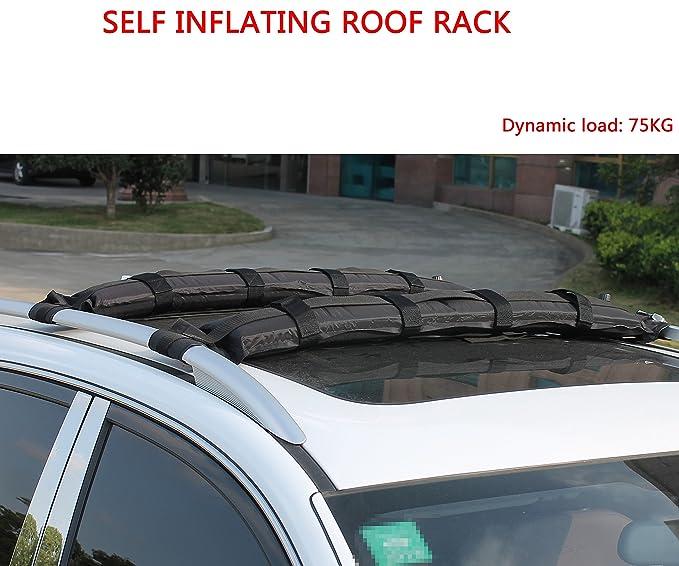 Amazon.com: iztoss Self Hinchable para techo de coche rack ...