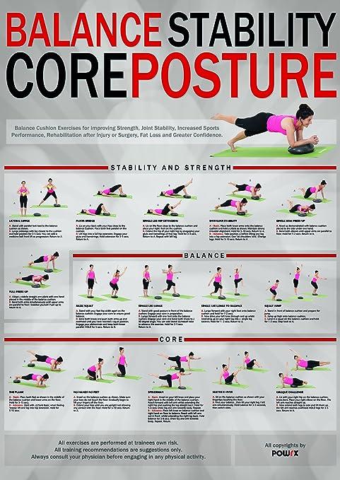Amazon Com Balance Exercises For Core Posture Stability Sports