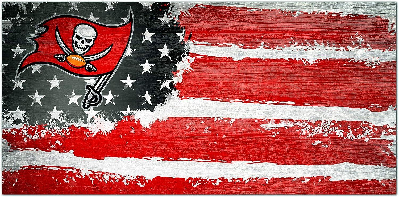 Fan Creations NFL Tampa Bay Buccaneers Unisex Tampa Bay Buccaneers Flag Sign, Team Color, 6 x 12 (N1007-TBB)