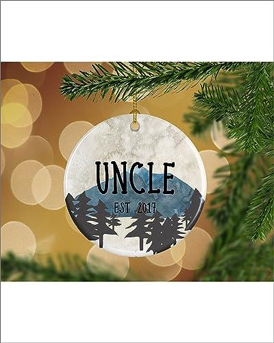 Amazon.com: Mountains Pregnancy Announcement Uncle EST Keepsake ...