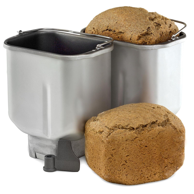 Andrew James Mini molde sartenes, antiadherente, juego de 2, para el Andrew James doble hoja molde para hacer pan: Amazon.es: Hogar