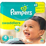 Pampers Swaddlers Diapers , Size 4, 23 Count