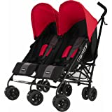 Obaby Apollo Black & Grey Twin Stroller (Red)