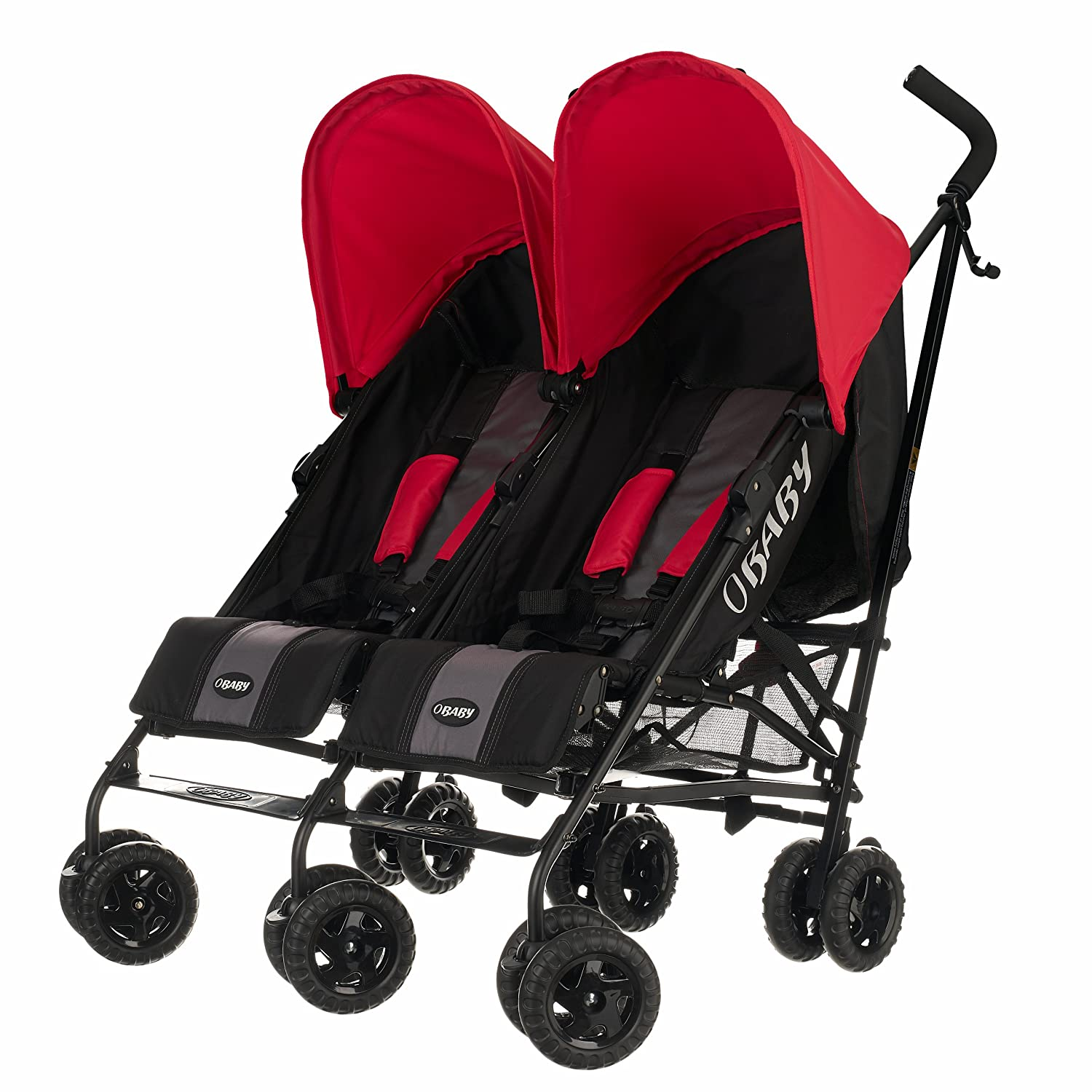 Obaby Apollo Black & Grey Twin Stroller