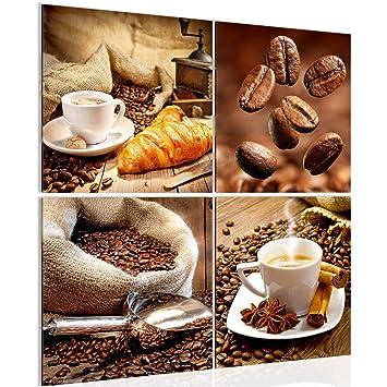 Bilder Für Die Küche Auf Leinwand | Runa Art Bilder Kuche Kaffee Wandbild Vlies Leinwand Bild Xxl