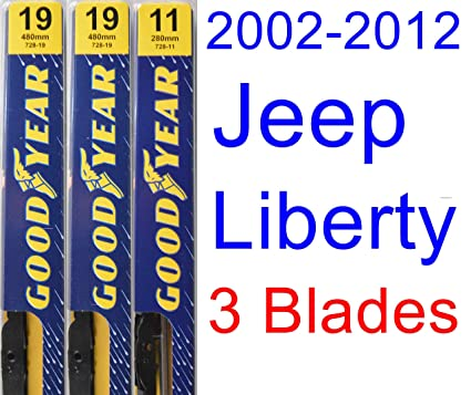 Wiper Blades Size >> 2002 2012 Jeep Liberty Replacement Wiper Blade Set Kit Set Of 3 Blades Goodyear Wiper Blades Premium