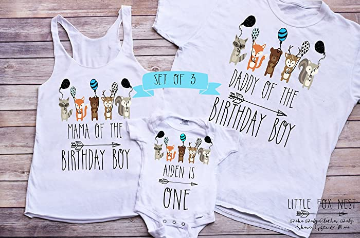 Wild One Shirt Birthday First Boy Matching Family Shirts