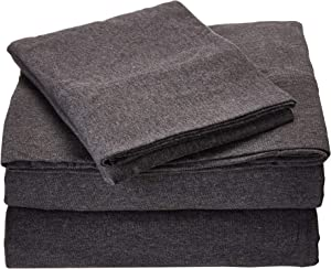 Urban Habitat Heathered Twin Bed Sheets, Casual Charcoal Bed Sheet, Bed Sheet Set 3-Piece Include Flat Sheet, Fitted Sheet & Pillowcase