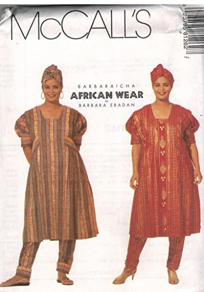 Amazon 60 McCalls Sewing Pattern UNCUT Misses Barbaraicha Beauteous African Dress Patterns For Sewing