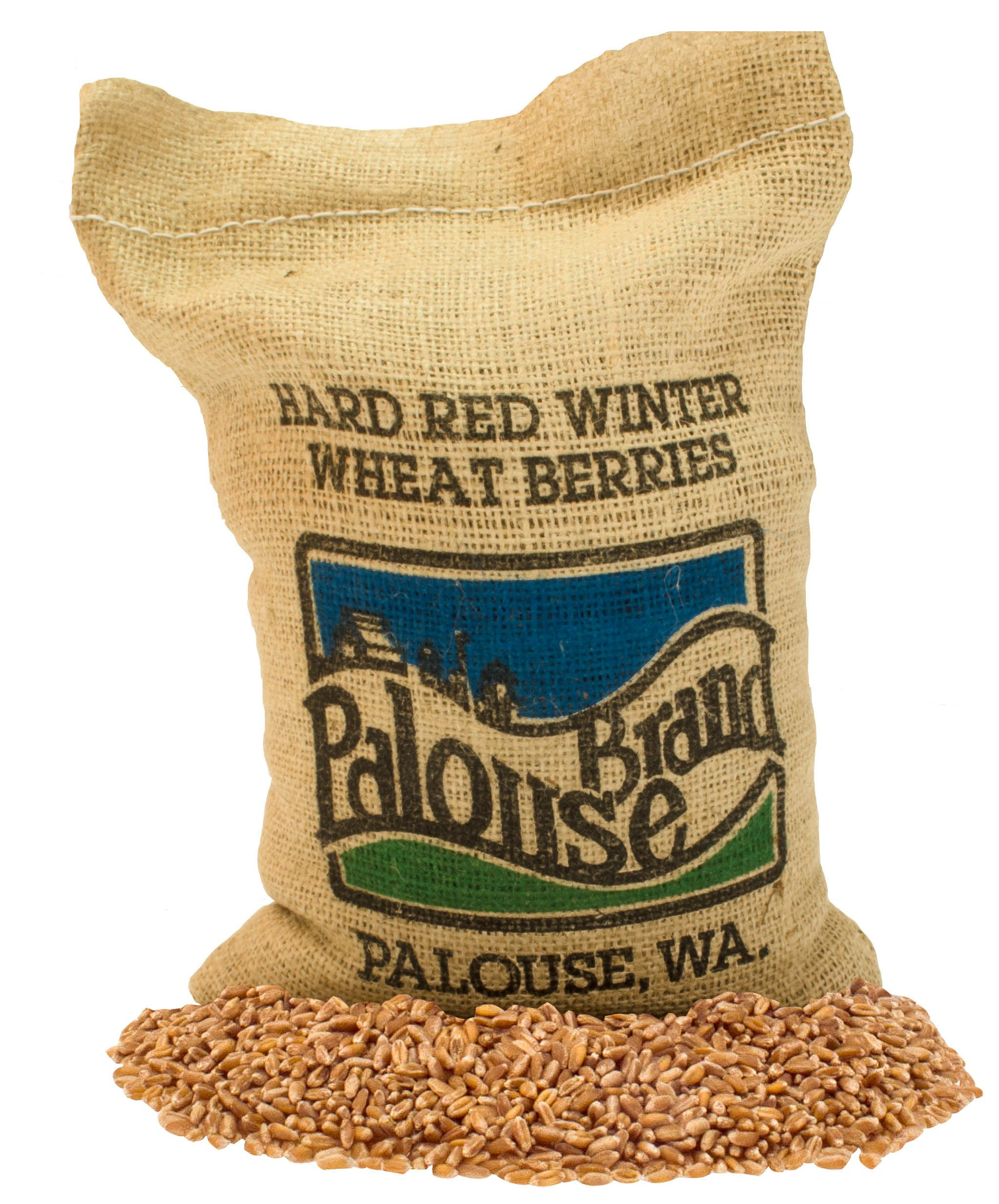 Hard Red Winter Wheat Berries • Non-GMO Project Verified • 5 LBS • 100% Non-Irradiated • Certified Kosher Parve • USA Grown • Field Traced • Burlap Bag