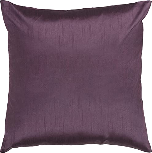 Artistic Weavers HH-039 Hand Crafted 100 Polyester Plum 18 x 18 Solid Decorative Pillow