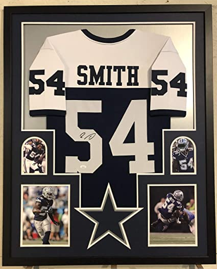 9495fae4a Image Unavailable. Image not available for. Color  Jaylon Smith Autographed  Custom Framed Dallas Cowboys Jersey JSA Witnessed COA