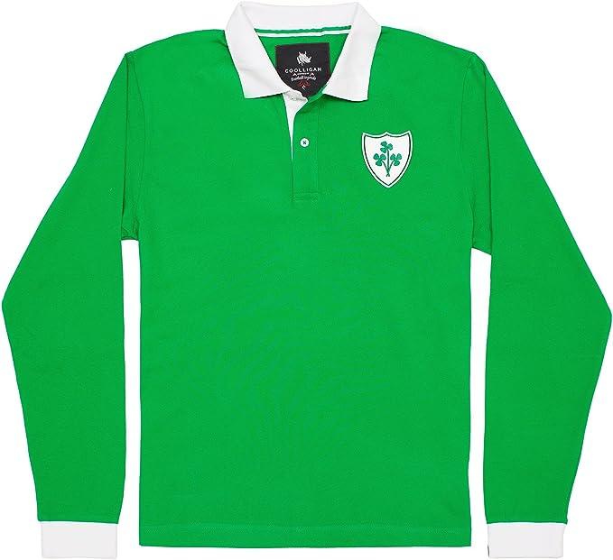 Coolligan - Polo de Fútbol Retro 1949 Ireland - Color - Verde - Talla ...