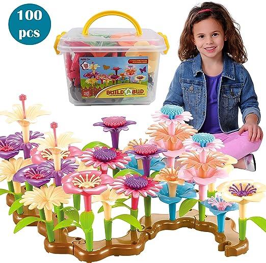 Play 2 Grow Centro de flores de jardín set de juego - floral de construcción de juguete para los niños: Amazon.es: Hogar
