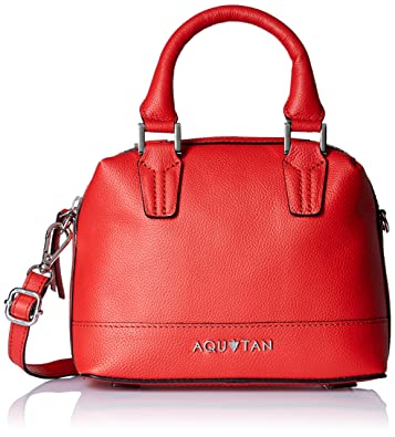 Aquatan Women's Headturner Mini Leather Satchel Red AT-S-36