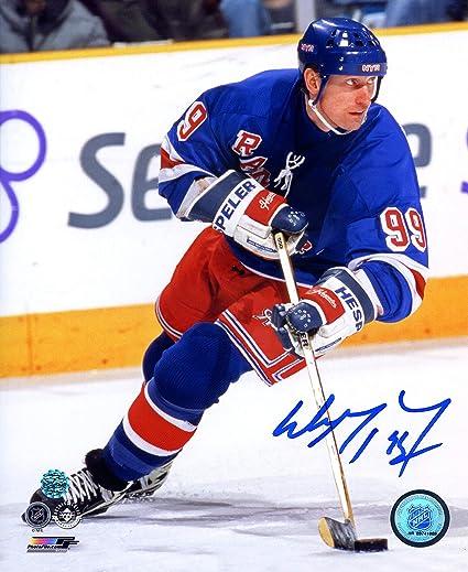 best service ffa7f 55b2a Wayne Gretzky New York Rangers Signed Autographed 8