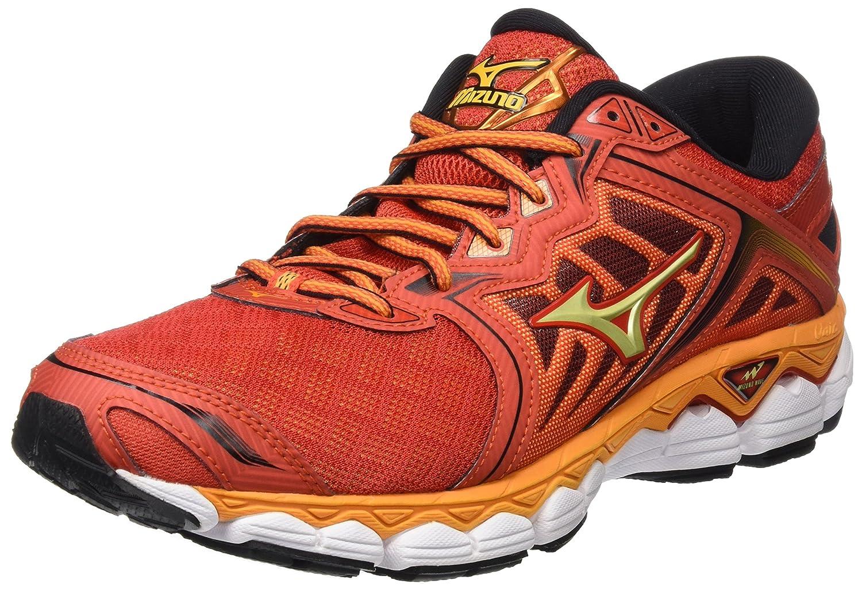 Mizuno Wave Sky, Zapatillas de Running para Hombre 44.5 EU|Multicolor (Grenadine/Limepunch/Black)