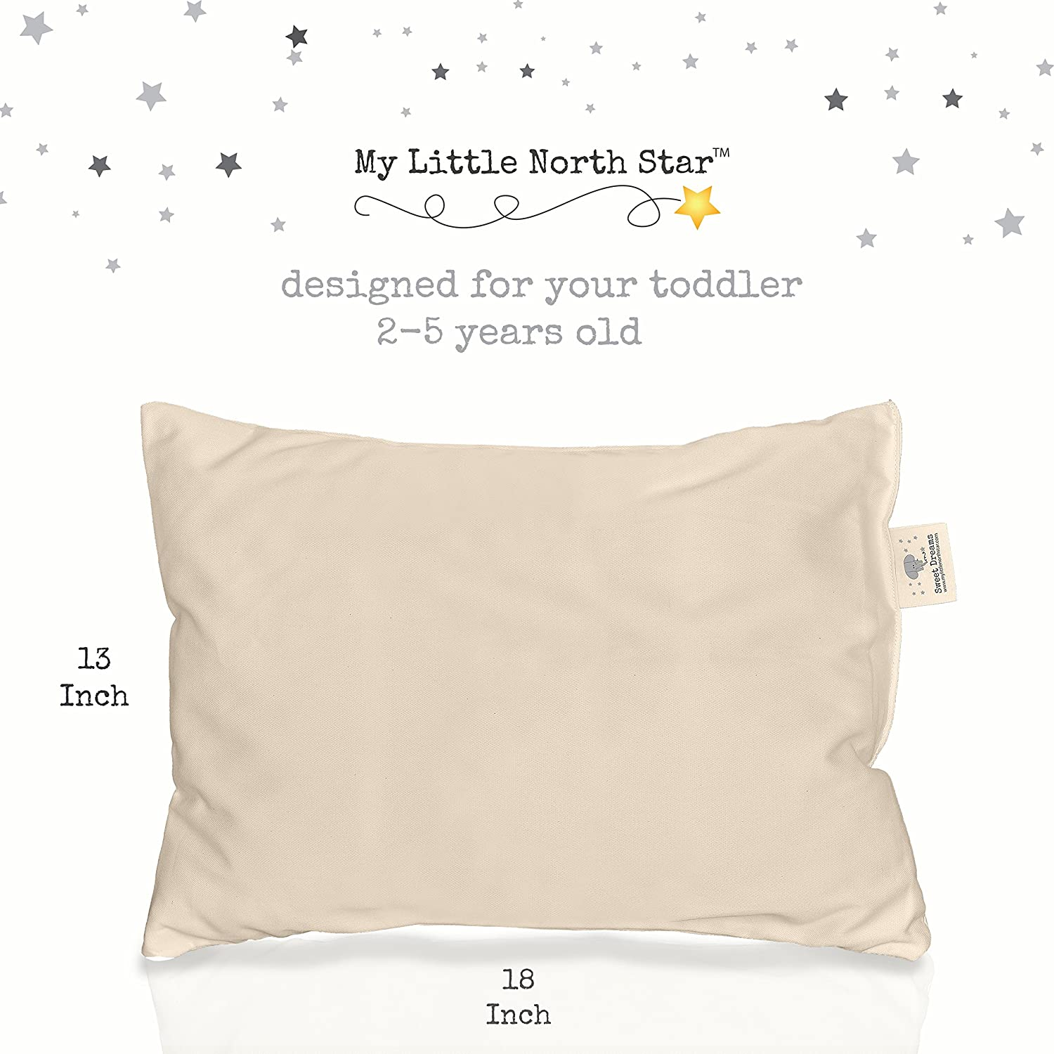 Amazon Toddler Pillow ORGANIC Cotton HYPOALLERGENIC
