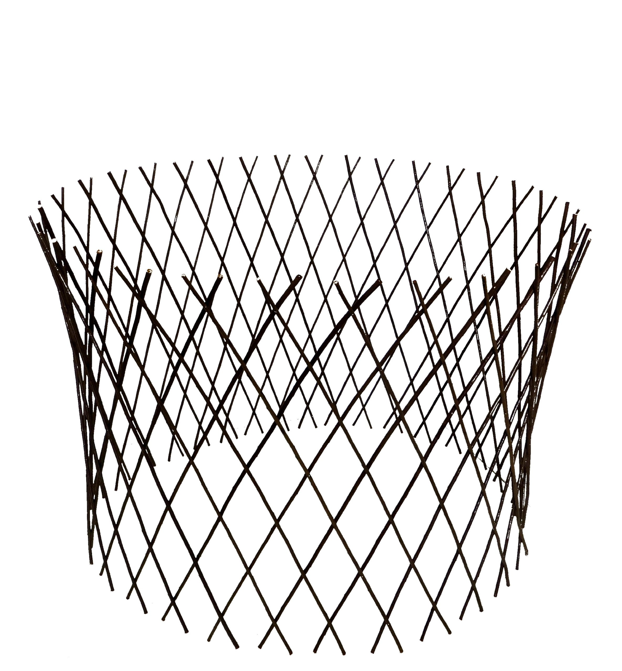 Master Garden Products Circular Willow Lattice Fence, 30 By 60 Inch
