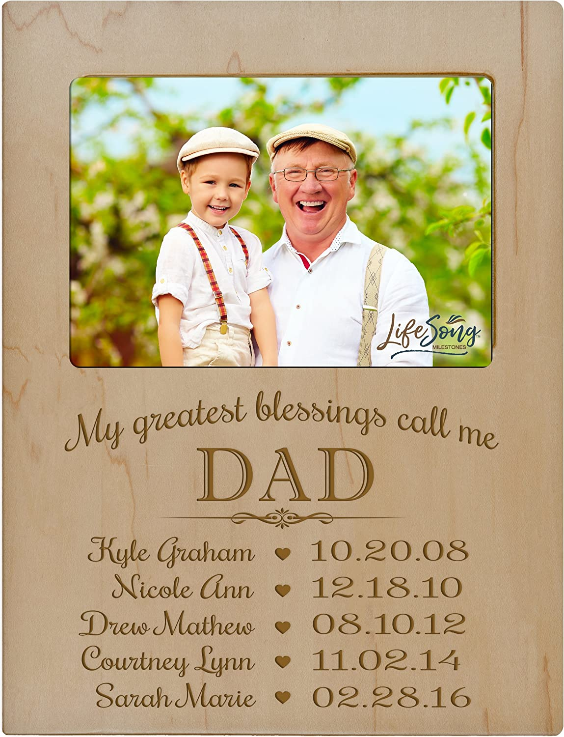 My Greatest Blessings Call me Daddy with Your Photo and Dates Black Frame Available