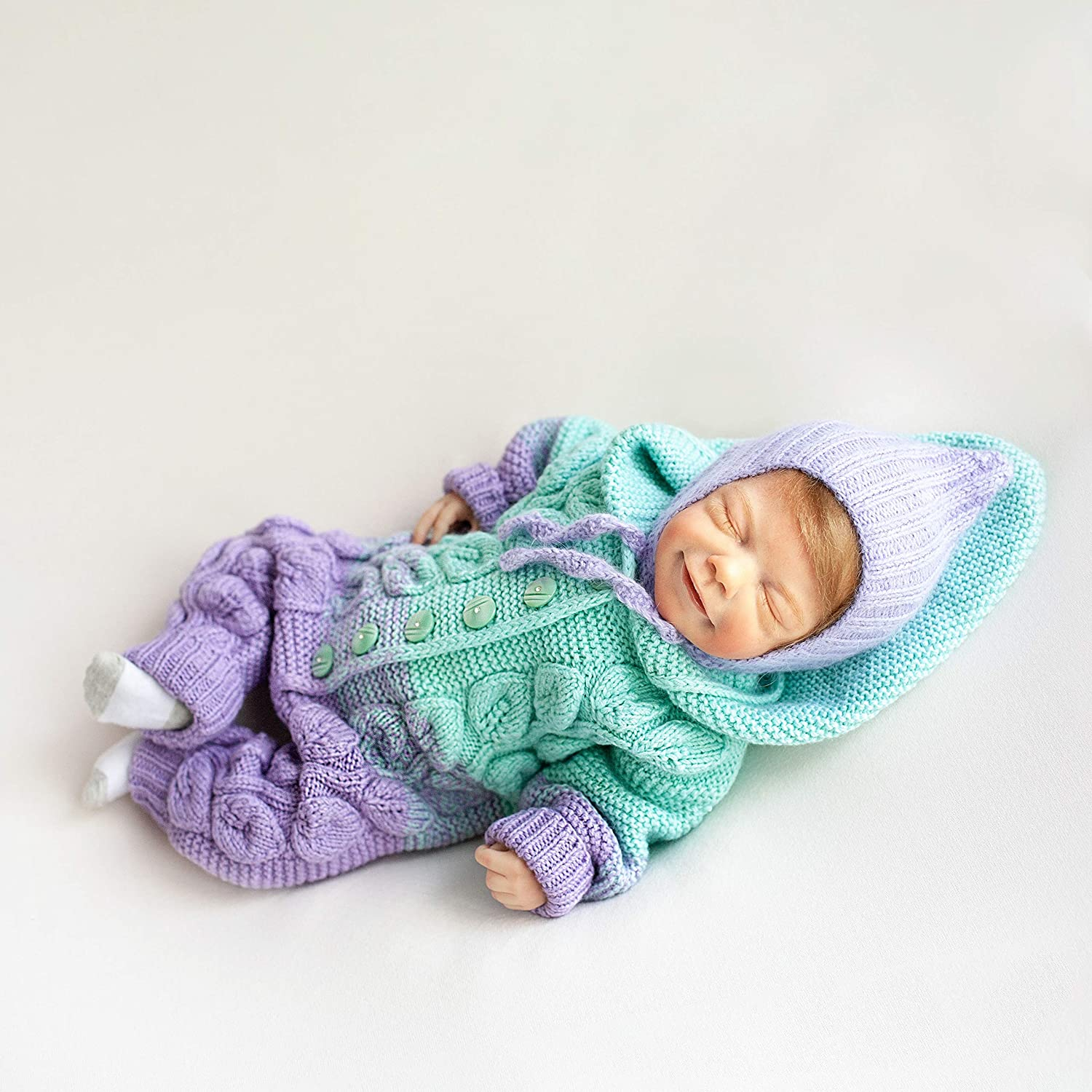 Amazon.com: Knitted baby clothes 5-5 mon Baby girl coming home