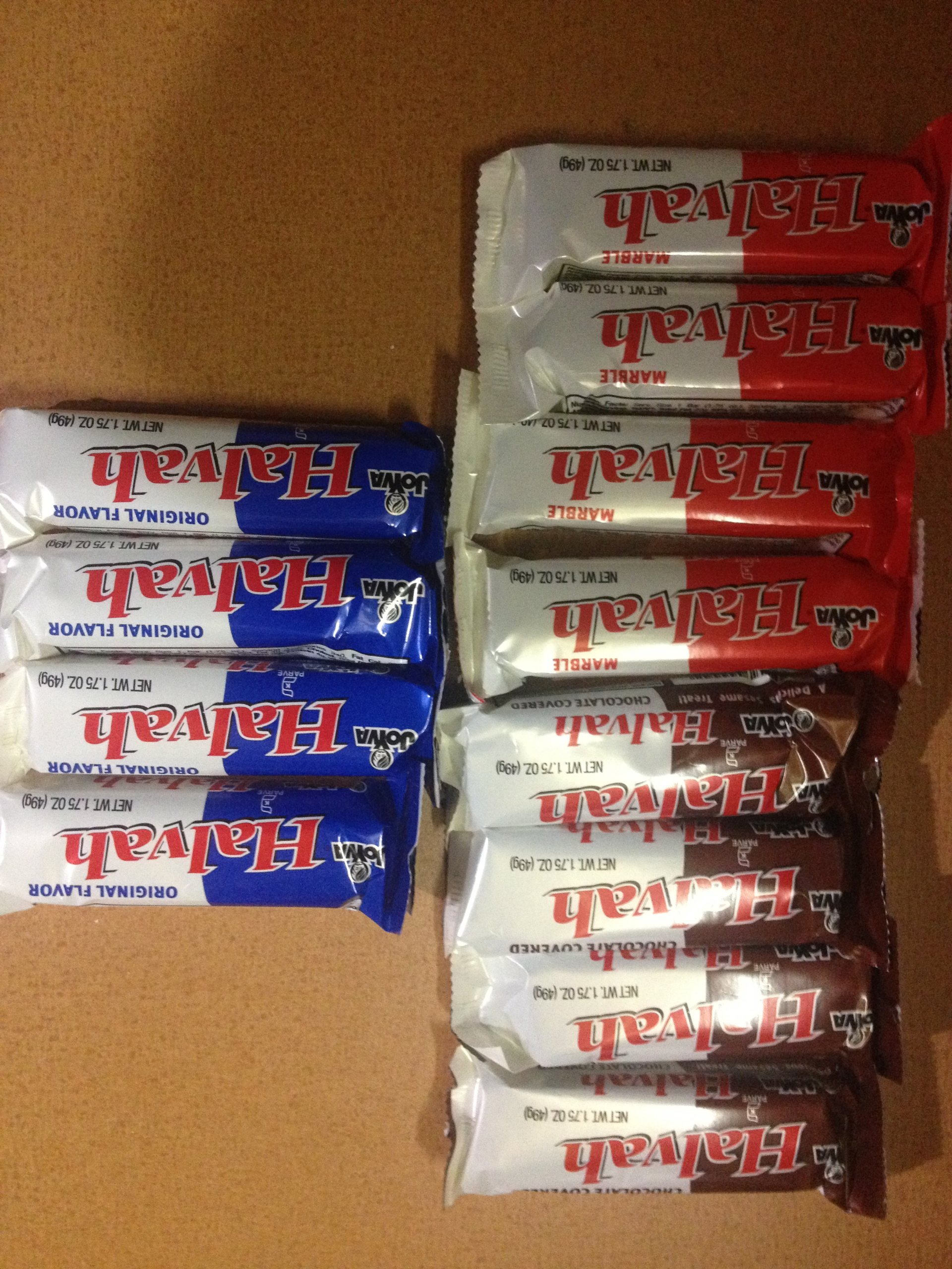 Joyva Halvah Variety 12 Count 4 Vanilla 4 Chocolate 4 Marble=12CT by Unknown