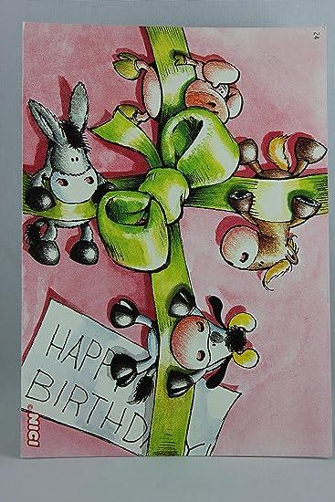 Nici 60026 Postkarte Nr 24 Geburtstag Tiere Happy Birthday