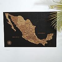 Mapa de México en Corcho con Pueblos Mágicos | Tendencia en Decoración