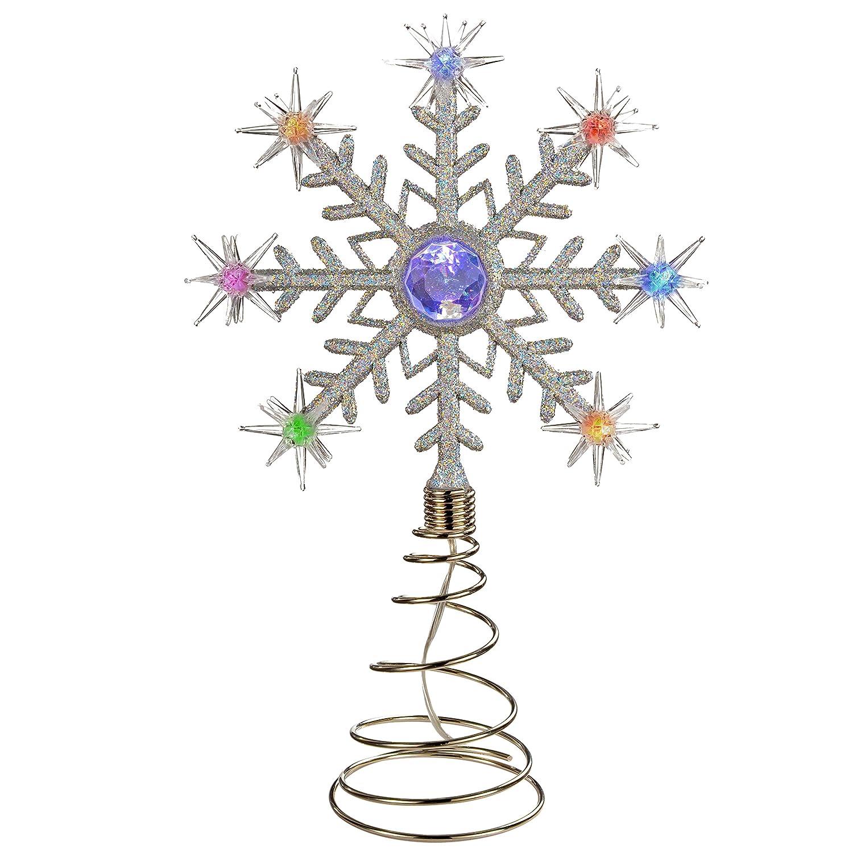 32 cm WeRChristmas D/écoration pour sapin de No/ël P/ère No/ël avec 8 LED changeant de couleur