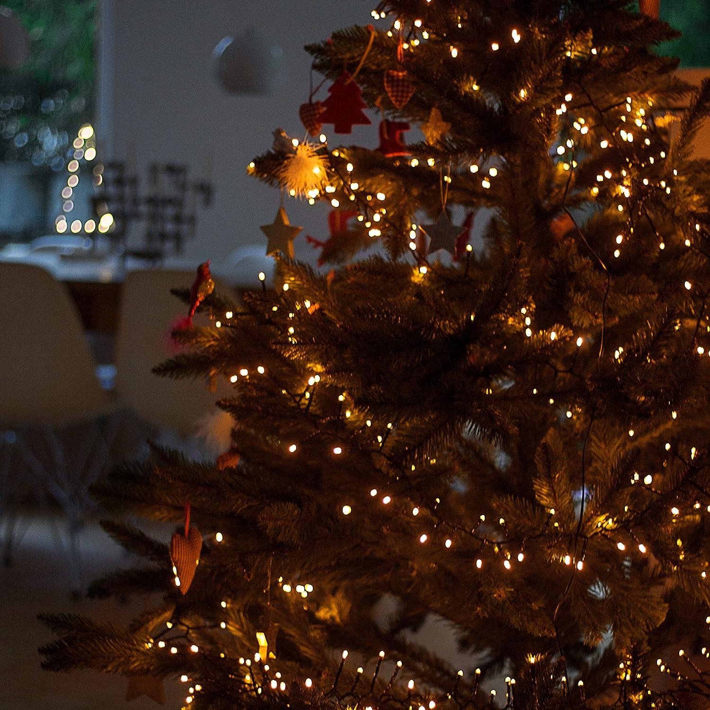 Led Lichterkette Für Tannenbaum.Snowera 600er Led Lichterkette Für Den Weihnachtsbaum Tannenbaum