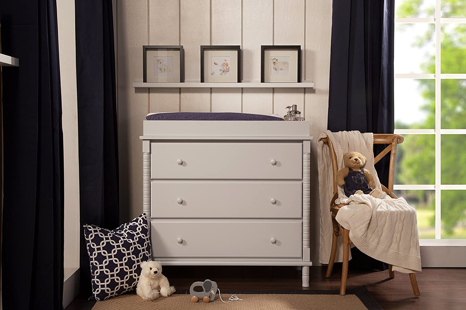 Amazon.com : DaVinci Jenny Lind 3 Drawer Changer Dresser, Fog Grey For  Babies R Us : Baby