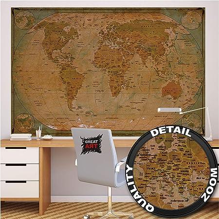 GREAT ART XXL Póster – Mapa Histórico del Mundo – Mural Globo ...