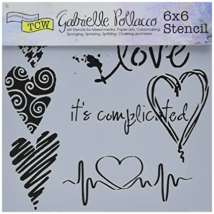 amazon com crafters workshop tcw6x6 567 complicated hearts template