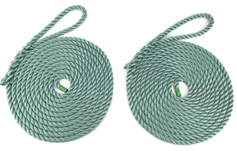 RopeServices UK 2 x 12 Metros de 12 mm Teal Softline Cuerdas de Amarre. Warps, líneas de Barco, Yates, Canal líneas de Barco
