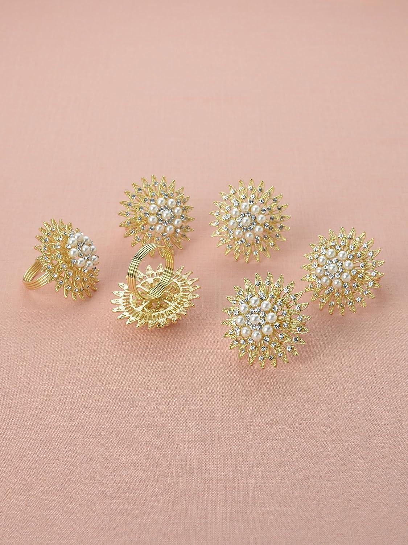 Amazon.com: AWEI Set of 6 Rhinestone Napkin Rings - Vintage for ...
