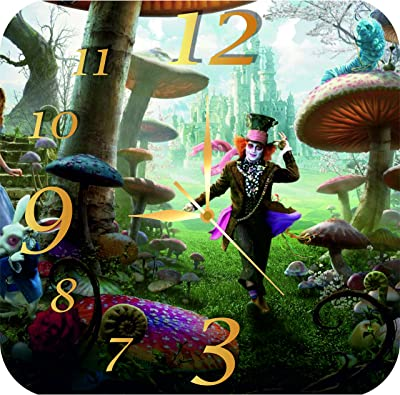 Alice Through the Looking Glass 11.8'' Handmade MAGIC WALL CLOCK FOR DISNEY FANS made of acrylic glass – Best gift ideas for kids, friends, parents and your soul mates