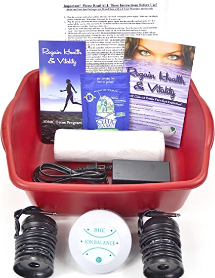 Amazon Com Ionic Cleanse Detox Ionic Foot Bath Spa Chi Cleanse Unit For Home Use Foot Spa Affordable Detox Foot Spa Machine With Free Booklet And Brochure Regain Health Vitality Health