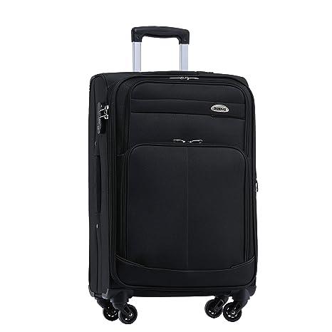 Maleta de viaje BEIBYE 8005 con 4 ruedas. Juego de equipaje en 6 colores., negro: Amazon.es: Deportes y aire libre