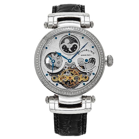 Stührling Original 353A.33152 - Reloj analógico para Hombre, Correa de Cuero, Color Negro: Amazon.es: Relojes