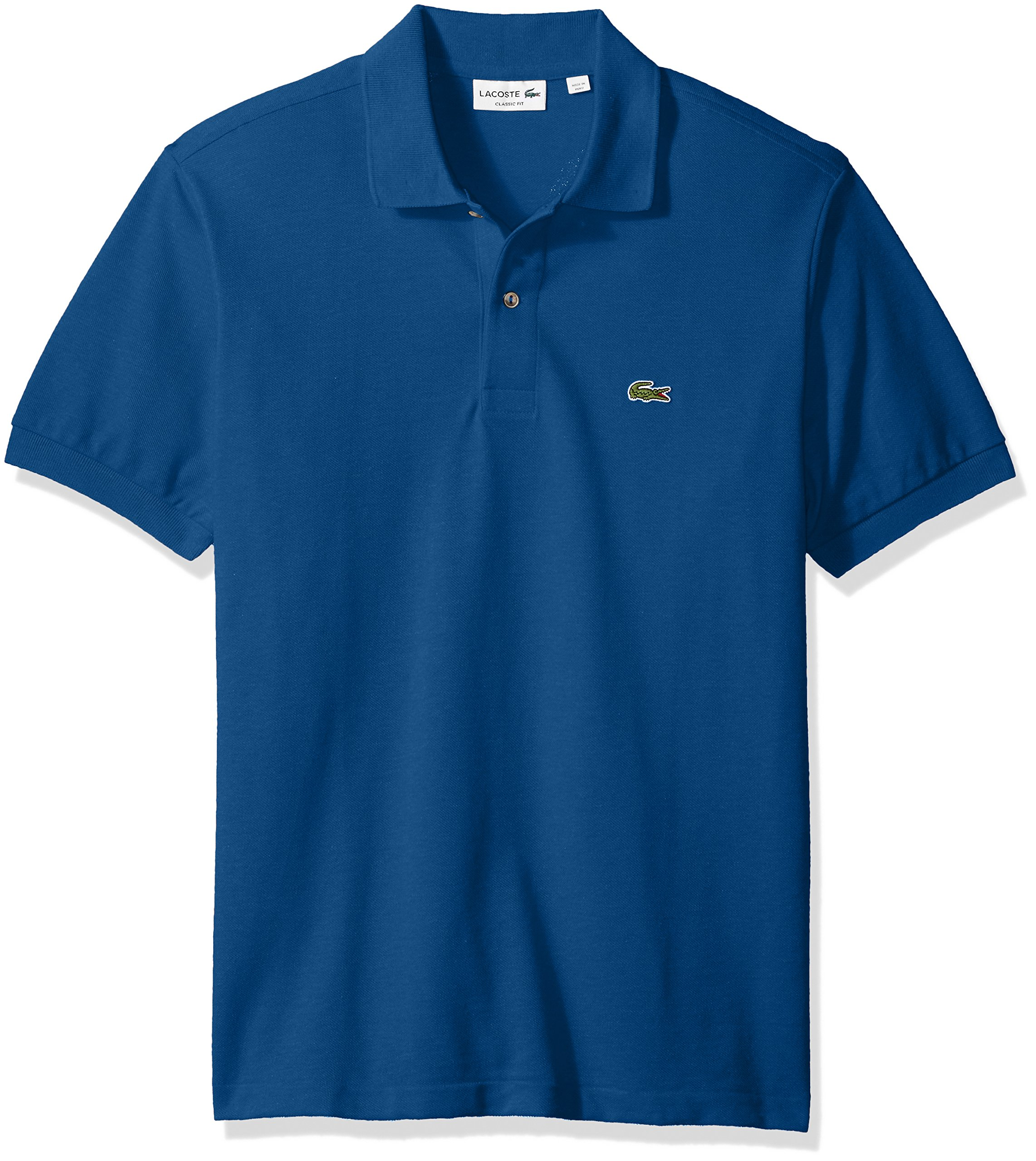 9b1407261 Galleon - Lacoste Men's Short Sleeve Pique Classic Fit Chine Polo Shirt,  L1264, Olmeto Blue, 7