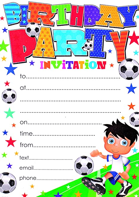Party Invitations with Envelopes Pack of 20 Amazoncouk Toys – Packs of Party Invitations